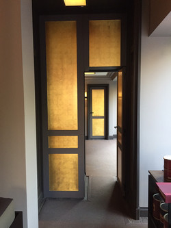 Portes dorées en plein