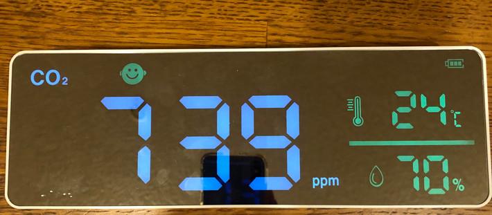 新たな新型コロナ対策としてCO2センサーを設置