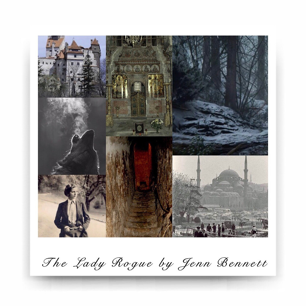 Book Aesthetic: The Lady Rogue by Jenn Bennett. Curated by Lourdes Montes