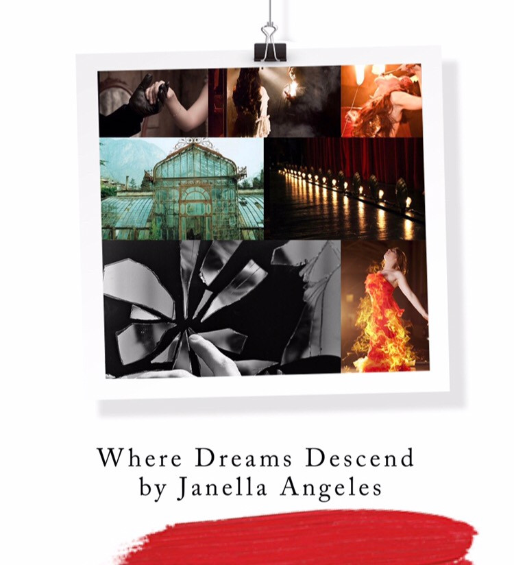 Book Aesthetic: Where Dreams Descend by Janella Angeles. Curated by Lourdes Montes