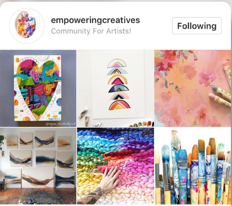 @empoweringcreatives Instagram page. #empoweringcreatoves