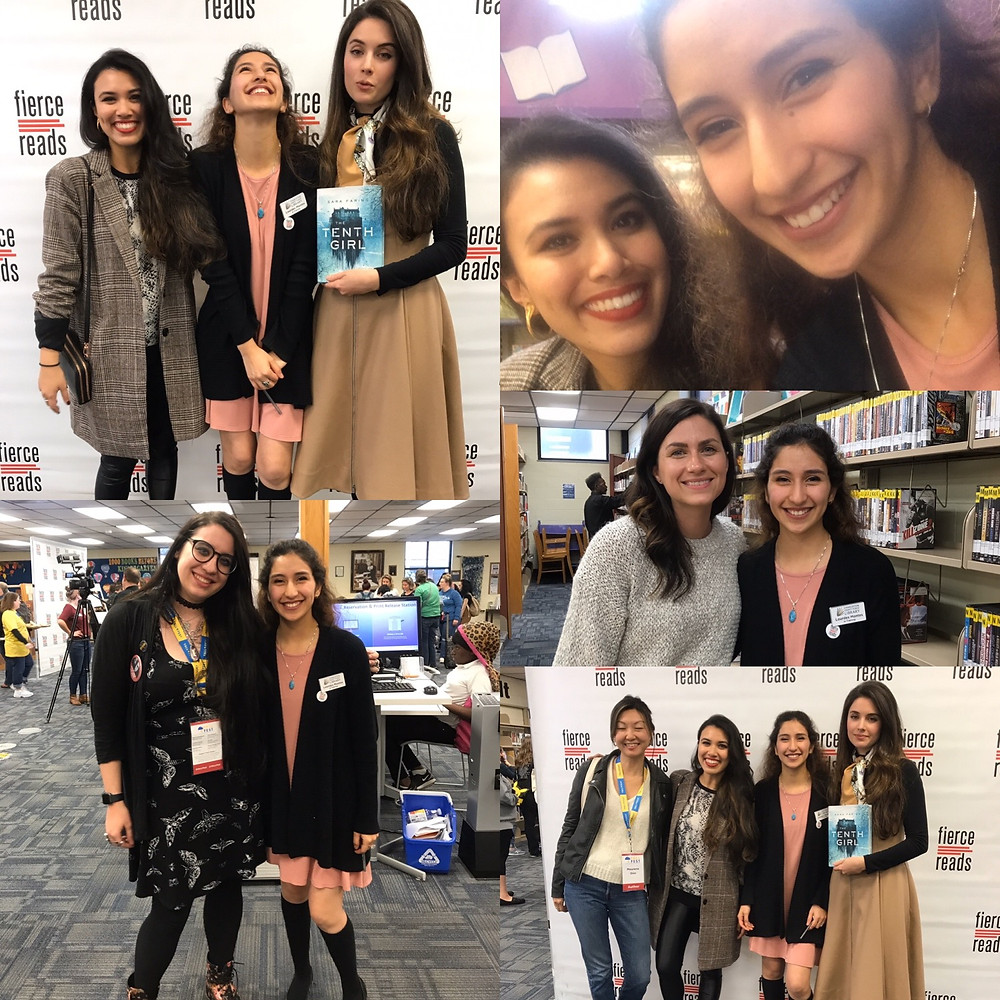 YALLFest Day 1. Meeting Roshani Chokshi, Sara Fairing, Emily A. Ducan, Adrienne Young, and Maureen Goo.