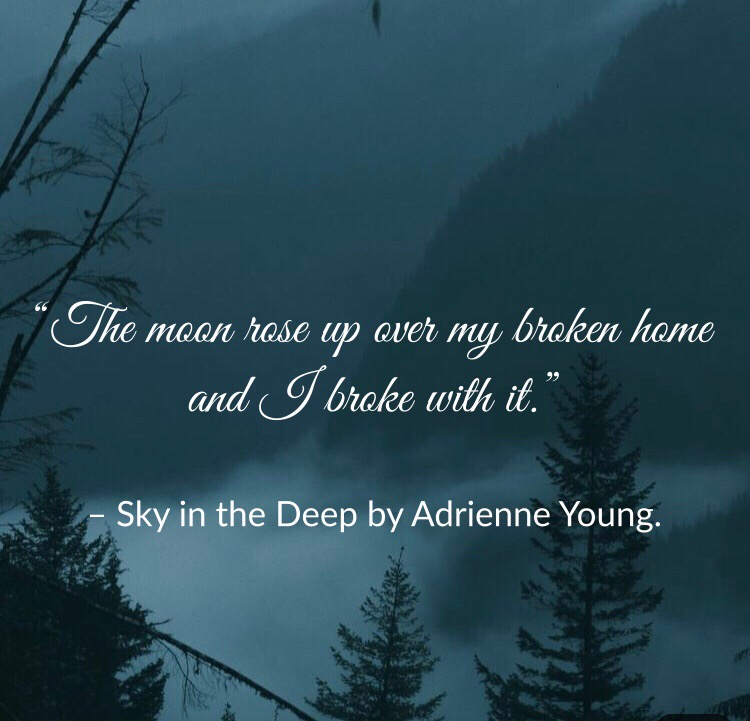 Quote from Sky in the Deep by Adrienne Young. Edited by Lourdes Montes, for Two Arts in a World.