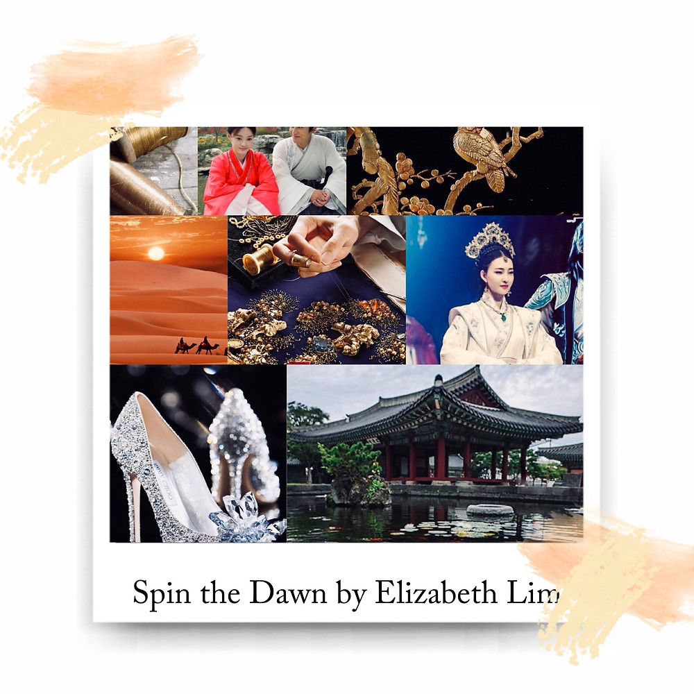 Book Aesthetic for Spin the Dawn by Elizabeth Lim. Curated and edited by Lourdes Montes