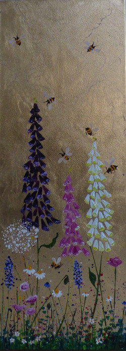 Bees in the Fairy Gloves iii