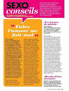 Sexologue Verdun, Magazine FA