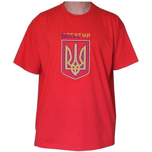 #футболка чоловіча з патріотичною вишивкою (Арт. 01663)