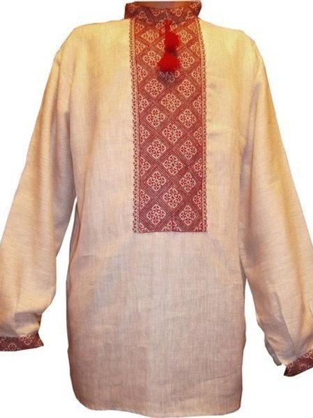 Вишиванка чоловіча, старовинна покутська лляна сорочка (Арт. 00069)