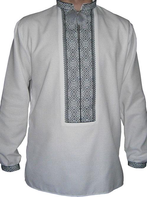 Вишиванка, чоловіча вишита сорочка ручної роботи (Арт. 00569)