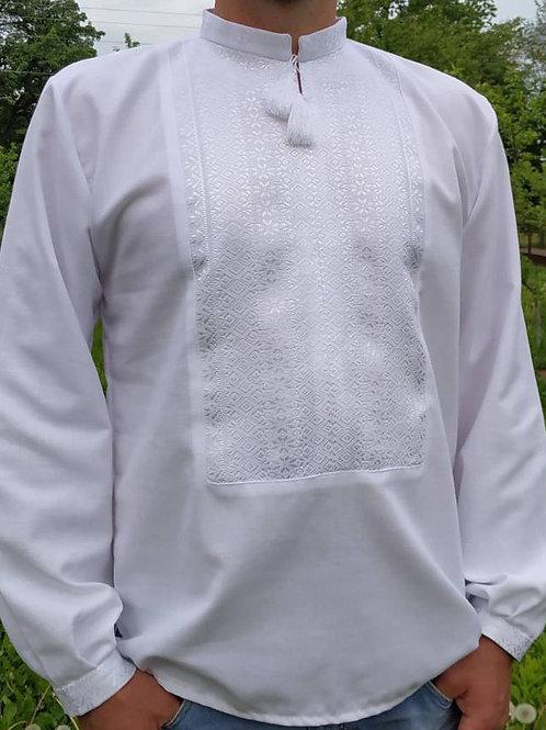 Вишиванка, чоловіча на домотканому полотні (Арт. 02627).