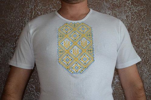#футболка чоловіча з патріотичною вишивкою (Арт. 01921)