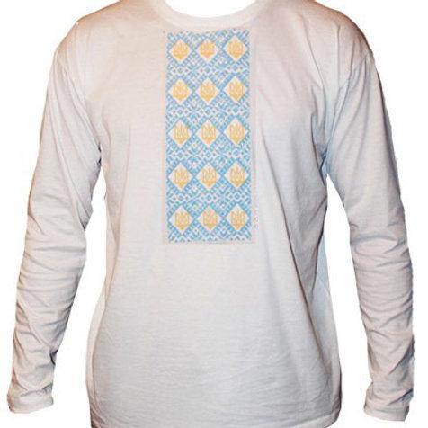 #футболка чоловіча з патріотичною вишивкою (Арт. 00527)