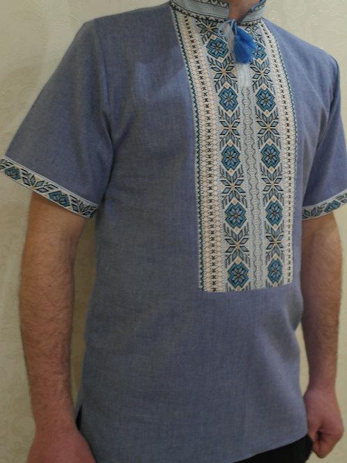 "Вишиванка, чоловіча вишита сорочка ""Стильна""  (Арт. 02057)"