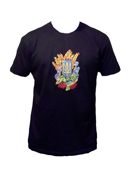 #футболка чоловіча з патріотичною вишивкою (Арт. 00521)