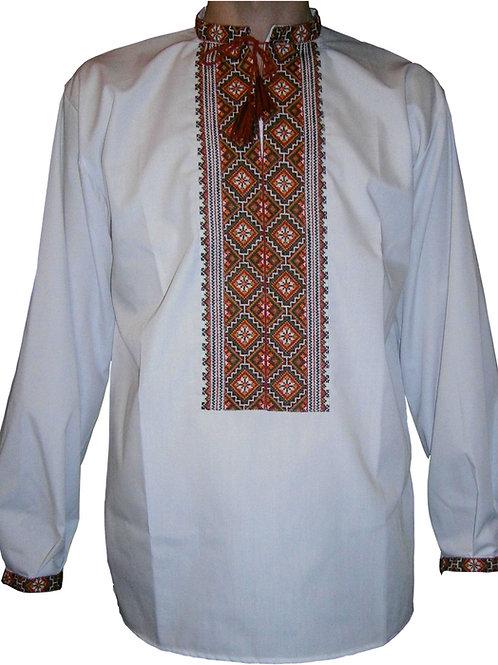 """Вишиванка, чоловіча вишита сорочка """"Мотив білих хорват"""" (Арт. 00293)"""