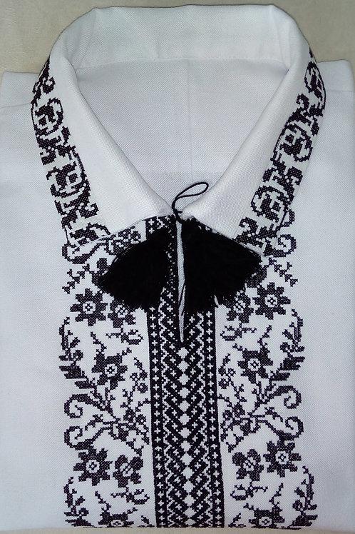 Вишиванка, чоловіча вишита сорочка на домотканому полотні (Арт. 01912)