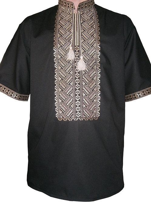 Вишиванка, чоловіча сорочка вишита безпосередньо на льоні (Арт. 00550)
