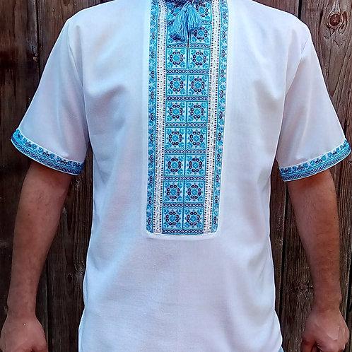 Вишиванка, чоловіча сорочка на домотканому полотні (Арт. 02568)