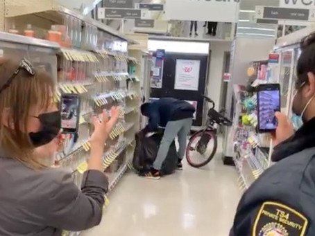 Thief in San Francisco Walgreens shows how easy it is to steal in Democrat run cities...