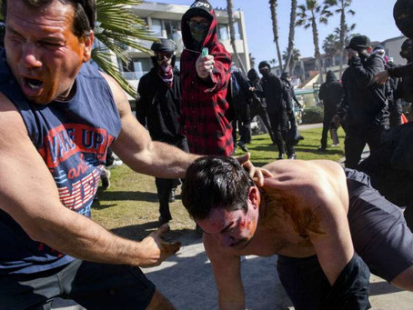 More Trump Supporters and Police Attacked by Antifa in California