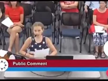 9 Year Old Girl DESTROYS School Board for BLM Posters in School