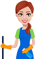 cleaning-company-staff-in-uniform-vector