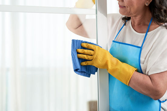 cropped-woman-cleaning-window-wearing-sp