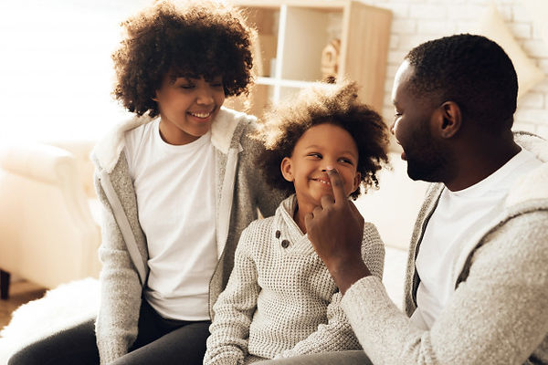 happy-african-american-family-smiling-si