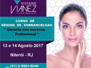 Curso Design de Sobrancelhas - 13 e 14 Agosto 2017 - Niterói - RJ