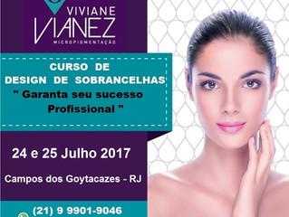Curso de Design de Sobrancelhas - 24 e 25 Julho 2017 - Campos dos Goytacazes - RJ