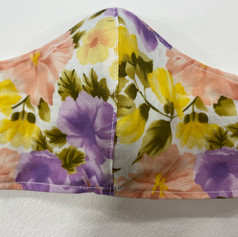 #11 Floral fitted mask
