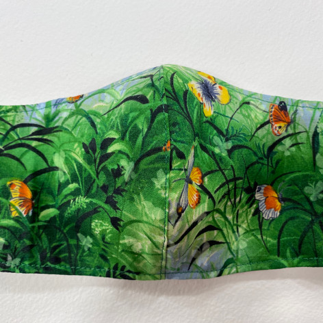 #20 Butterflies fitted mask