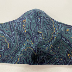#22 Blue/Green Paisley Fitted Mask