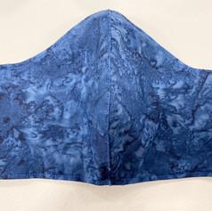 #7, Navy Batik Fitted Mask