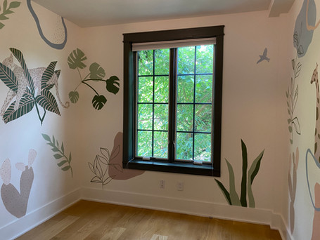 Private home/nursery mural in Brooklyn, NY