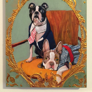 Chase and Chloe, Boston Terriers