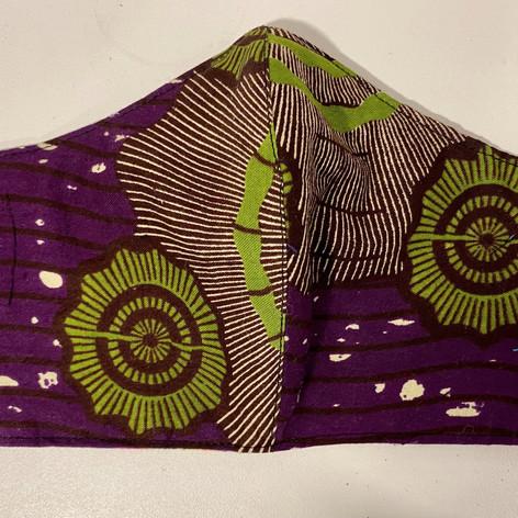 #14 Purple African Print Mask