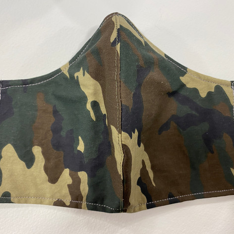 #12 Camouflage Fitted Mask