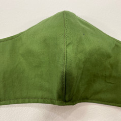#9 Olive Green Fitted Mask