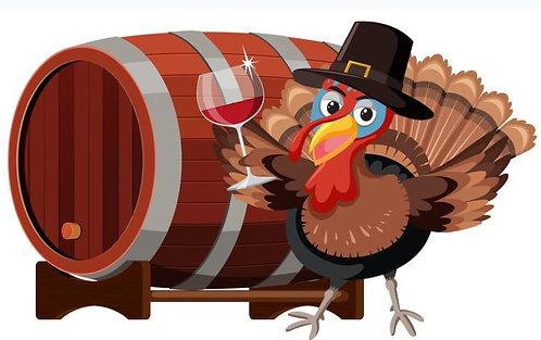 Thanksgiving wine sampler