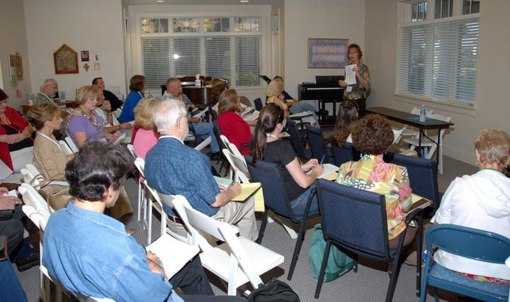 Terri at AIBF Writers Workshop