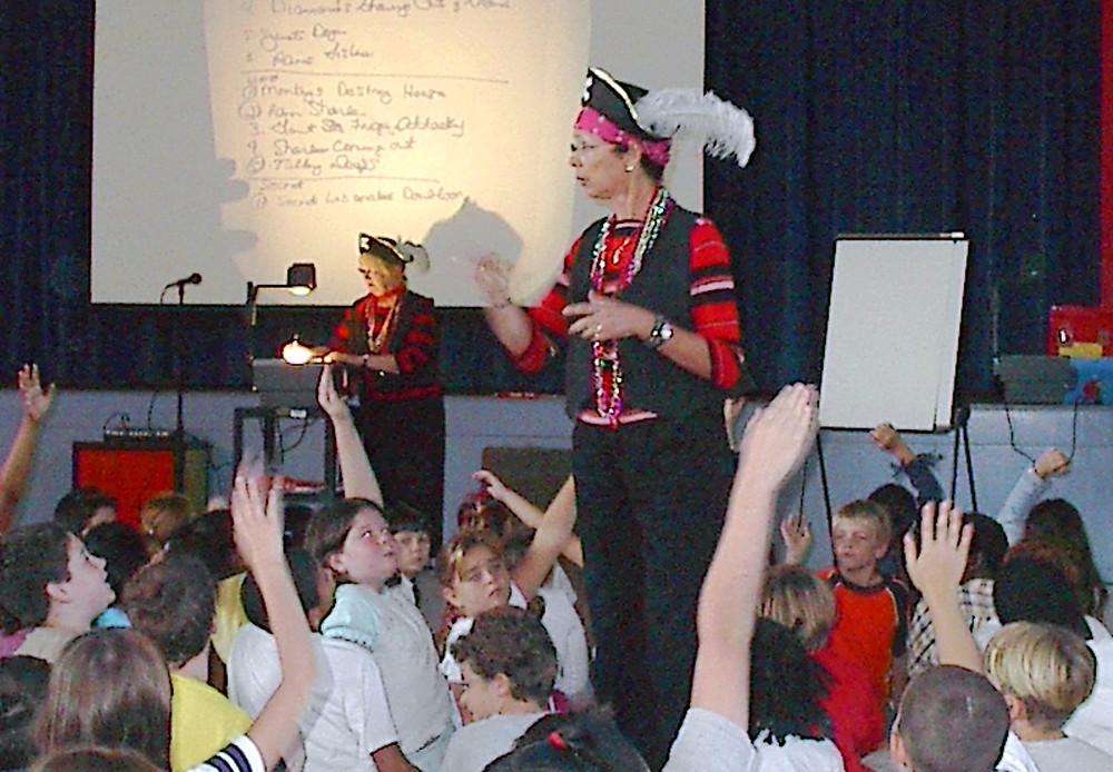 Janeen  Mason at  Emma Love HardeeSchool in 2004
