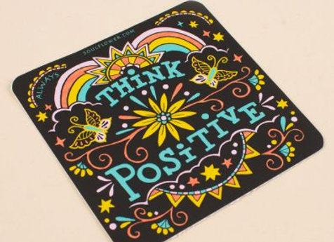 Think Positive Sticker