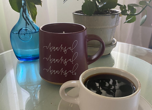Thankful Mug Candle