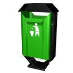 Урна уличная для сбора мусора 30 литров  02.01.006