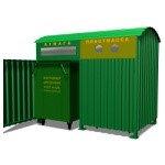 Навес для контейнеров по сбору ТБО  02.05.002