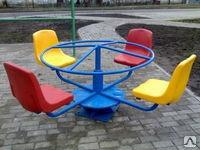 """Карусель """"Штурвал"""" с пластиковыми сиденьями  03.03.014"""