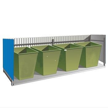 Ограждение для контейнеров по сбору ТБО (5000ммх1100мм)  02.05.003