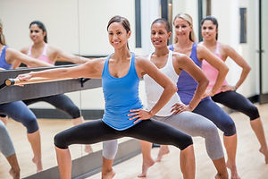 A Barre Pilates class