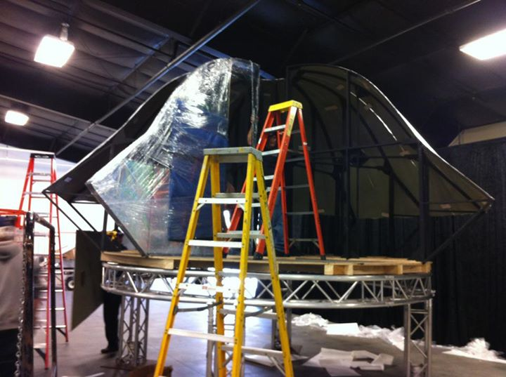 SD Fair installation - 12 ft UFO